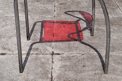 2833 miles since (lille abe) Tags: chengdu china street chair shadow red abstract lines nikon michal pachniewski