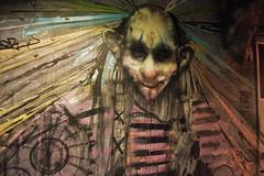 Clown (HBA_JIJO) Tags: streetart urban graffiti paris france hbajijo wall mur painting peinture clown street murale spray urbain charactere personnage rehab2 ec frèresdart