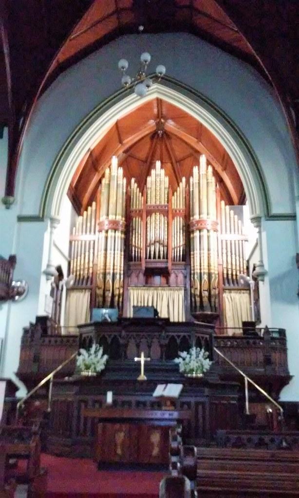 Brisbane.  The first Wesleyan church was built in Brisbane in 1849. The first in Albert Street was built in 1856 and this replacement church was built in 1889. The organ was also installed in 1889