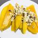 Mango-Streifen mit Müsli