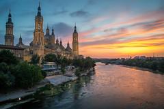 El Pilar (Csanz14) Tags: zaragoza pilar elpilar atardecer sunset río river ebro basílica españa spain cielo