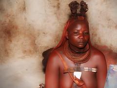 Namibia - Himba woman (sharko333) Tags: travel voyage reise africa afrika afrique namibia kaokoveld kaokofeld people portrait himba woman olympus em1