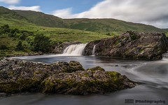 Aasleagh Falls - County Mayo (C.M_Photography) Tags: river riverfall rocks grass bluesky clouds aasleaghfalls mayo ireland longexposure