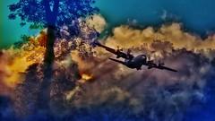 Double Exposure (Bob's Digital Eye) Tags: 2into1 2017 bobsdigitaleye canon canonefs55250mmf456isstm doubleexposure flicker flickr landscape morningmist photoshop silhouette sun sunrise t3i c130