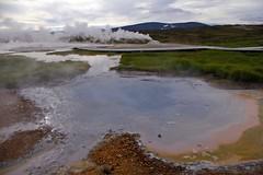 Hveravellir hot pools (Mrs Butterbur) Tags: iceland is hveravellir hot pool kjölur fumarole steam
