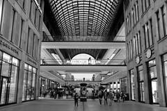 Mall of Berlin (timnutt) Tags: building shopping street people germany city berlin urban monochrome shoppers bw architecture german blackandwhite mono