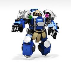 Ultramarines Terminator Lord (Faber Mandragore) Tags: wip lego moc sci fi mecha warhammer 40k spacemarine ultramarine lord champion terminator space hulk