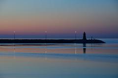 Quiete (luporosso) Tags: marche mare sea civitanovamarche porto faro tramonto port lighthouse tramomto sunset