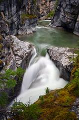 Maligne Canyon (James_D_Images) Tags: maligne canyon waterfall geological rocks shrubs water longexposure nd flowing jasper national park alberta