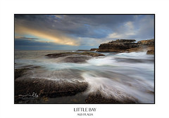 Sea coast flows at low tide (sugarbellaleah) Tags: coastal flows ocean seascape water flowing cunjevoiseaplants nature clouds sky light morning littlebayaustralia australia beautiful eroded rocks geology motion movement