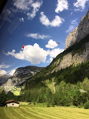 Alps Trip 0870m (mary2678) Tags: switzerland europe honeymoon mountain mountains lauterbrunnen valley bus paraglider paragliders trümmelbachfälle trummelbach falls rick steves myway alpine tour