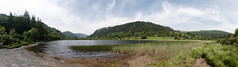 CFR9162 Panoramic of Lower lake, Glendalough (Carlos F1) Tags: ireland irlanda vacaciones holidays glendalough wicklow mountain hill montaña valle valley lake lago water agua panoramica panoramic cowicklow