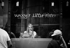 waxy's little sister (Erwin Vindl) Tags: waxyslittlesister streetphotography streettogs candid blackandwhite monochrome soho london erwinvindl olympusomd