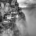 Tiger's nest monastery in the mist, Bhutan