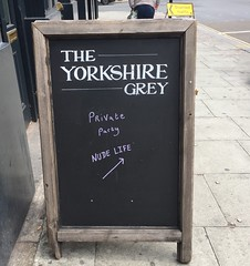 Yorkshire Grey's nude life meeting (Matt From London) Tags: yorkshiregrey pub chalkboard privateparty holborn london
