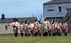 The Fife and Drums (.:Axle:.) Tags: fortgeorge niagaraonthelake ontario canada nationalhistoricsite parkscanada fort fortification warof1812 reenactment battle reenactor military history canadianhistory militaryhistory uniform retreat defenders musket smoke fogofwar volley nikon nikonf5 slr 35mm 135 afsnikkor70200mm128gvr afgaphoto agfaphotovistaplus vistaplus asa400 c41 colournegative cn colour burlingtoncamera epsonv700 adobephotoshopcc film filmphotography believeinfilm filmisalive filmisnotdead