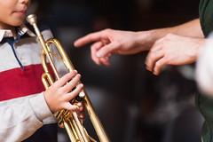 Discipulus (S. Hemiolia) Tags: musica trumpet tromba insegnare teaching scuola school teacher maestro mani hands conservatorio scuoladimusica hand mano