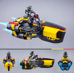Speedster (Milan Sekiz) Tags: lego blacktron black yellow red trans space speedster bust speed