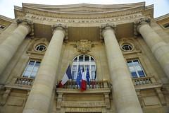 Mairie Du Ve (gooey_lewy) Tags: sunny paris supprise trip france mairie du ve liberte egalite fraternite flag building front