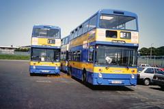 Fareway, Kirkby 108 (OBN 511R), 177 (OBN 508R) (SelmerOrSelnec) Tags: fareway kirkby leyland fleetline northerncounties obn511r obn508r lut gmt bus