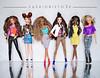 Revival (fashionisto2k) Tags: barbie dolls teresa drew christie raquelle nikki skipper kanekalon f2k fashionistas