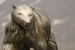 The King Of Bears (Derbyshire Harrier) Tags: polarbear sculpture stainlesssteel 2017 longyearbyen arctic oceanwideexpeditions ortelius naturetrek svalbard higharctic spitsbergen
