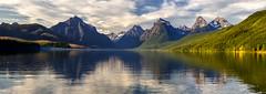 panorama - Lake McDonald - Glacier National Park - 7-02-12  03 (Tucapel) Tags: panorama lake mcdonald montana glaciernationalpark glacier nationalpark water reflection clouds