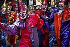 Clowns (pedro katz) Tags: evuador quito clowns parade festival nikond300 topazglow topazsoftware manipulated