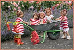 Kindergartenkinder ... (Kindergartenkinder) Tags: seppenrade sanrike tivi rosengarten blumen personen kindergartenkinder garten blume park frühling annette himstedt dolls milina annemoni jinka