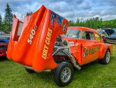 1952 Chevy coupe gasser (kenmojr) Tags: 2017 antique atlanticnationals auto car classic moncton newbrunswick show vehicle vintage centennialpark kenmo kenmorris carshow nikon d7100 nikkor 18105 1952 chevy chevrolet gasser orange drag racer