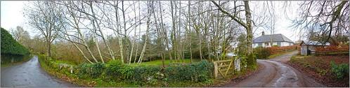 Rural Lane, Gidleigh, Devon, England UK