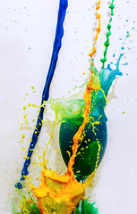 Color Explosion (Amazing Aperture Photography) Tags: color vibrant bright fun splash drip explosion water glass wineglass freezeframe creative sonya6000 artistic art abstract