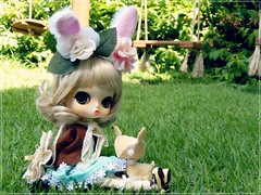 Lost babys (Pliash) Tags: doll byul cute kawaii lolita blond felt plushie groove pullip asian fashion dolls bunny girl