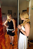Looking Hot Tonight (Davien Orion) Tags: clones clone multiplicity twins mirror explore red woman photoshopelements flickrmultiplicity googlemultiplicity model portrait fire