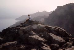 Rocktip (egotoagrimi) Tags: aegean greece ammoudia plateau hikingtrails ικαρία αμμούδια rocks view wilderness noon august girl friend trailrunning ridge transikariantrail cliffs μονοπάτια αθέρασ camper runner
