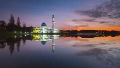 Soft (Explore 4th August 2017) (Hafidz Abdul Kadir) Tags: mosque masjid malaysia asia reflection sunrise beautifulasia illuminated calm peace serenity مسجد