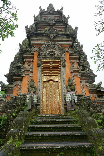 The temple door at the Ubud Water Palace