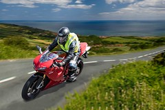 Happy days (bainebiker) Tags: ducati motorcycle landscape road sea clouds canonef24mmf14liiusm panning