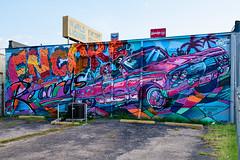 ENCORE Records (-Dons) Tags: austin texas unitedstates muralart streetart encorerecords wall car blkmtl jmusacz sugar paint wendys downtown