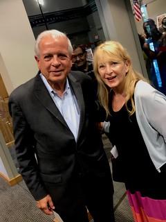 City of Miami Mayor Regalado with Patrice Samara at Erika King's Commemorative Ahow