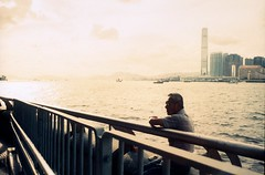Fishing is everything (TAHUSA) Tags: leica camera warm tone sunset hongkong hk hong kong m2 colour slide positive film rollei vario chrome 320 iso400 summicron 35mm f2 352 35 wide portrait documentary life mood moment