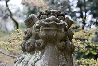 Statue at Tōdai-ji Temple, Nara