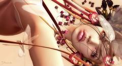 Freshness ... (ShaNaela) Tags: event portrait shiny shabby headpiece flowers catwa trèschic lips eyes