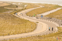 Winding road through the dunes (Tony Kanev) Tags: netherlands holland dunes road winding bicycle cycling coast petten