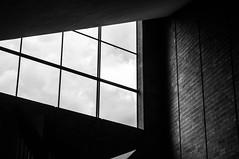 huutoniemi church (jollila) Tags: huutoniemi kirkko church sunday sunnuntai vaasa bw blackwhite mustavalkoinen sky taivas ikkuna window tile tiiliseinä