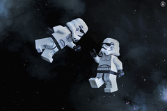 Lost in Space (jezbags) Tags: lego legos toys toy minifigure minifigures macro macrophotography macrodreams macrolego canon60d canon 60d 100mm closeup upclose starwars wars star stormtrooper stormtroopers troopers trooper deathstar space reaching hands lost stars smoke