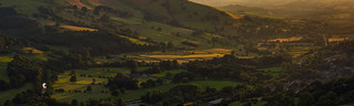 Last light across the Derwent Valley