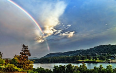 IMG_8158-62sPtzl1scTBbLGER (ultravivid imaging) Tags: ultravividimaging ultra vivid imaging ultravivid colorful canon canon5dmk2 clouds sunsetclouds scenic vista rural rainyday pennsylvania pa rainbow river summer evening