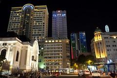 Downtown Saigon (soreen.d) Tags: hcmc saigon city architecture street frenchcolonialarchitecture artdeco night photography modernist