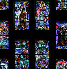 Our Lady of Mount Carmel (Lawrence OP) Tags: ourladyofcarmel carmelite saints stainedglass baltimore cathedral